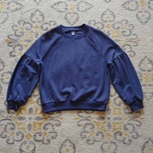 Aerie Periwinkle Puff Sleeve Sweater